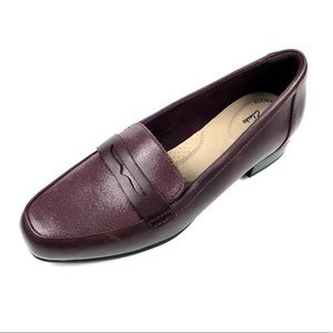 Clarks Woman Burg.6M Leather Juliet Coast Loafer